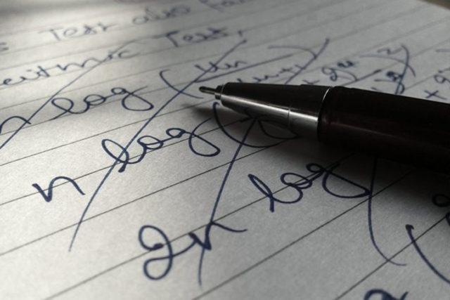 stockpenwriting